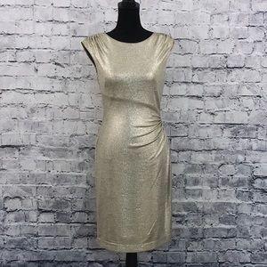 Ralph Lauren Gold Midi Dress 09020